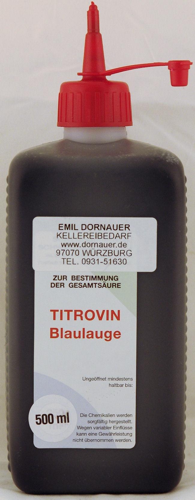 titrovin blaulauge 500 ml titrovin labor und analysen kellerei brennereibedarf. Black Bedroom Furniture Sets. Home Design Ideas