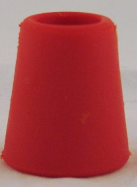 Gummispund rot 33 mit Loch 9er