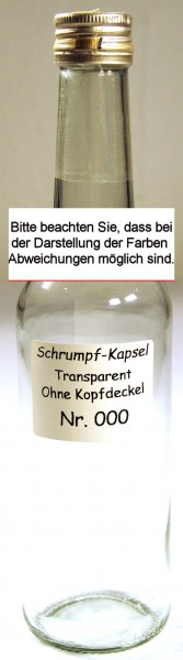 Kapsel / Transparent 31,0 x 60 mm