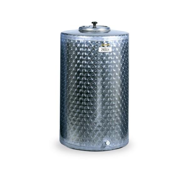 Lagerbehälter V2A / 100 Ltr / oh. Füße