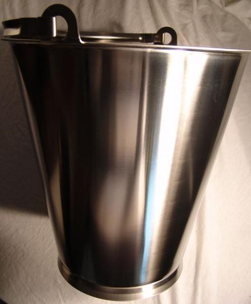 Eimer 15 Liter mit Bodenreif V2A