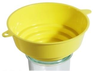 Trichter Einmachtrichter    Kunststoff gelb