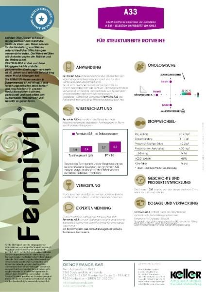 Fermivin A 33 Hefe für Rotwein