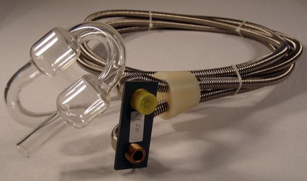 Kühlschlauch mit Silicon-Gärstopfen ohne Gärröhre