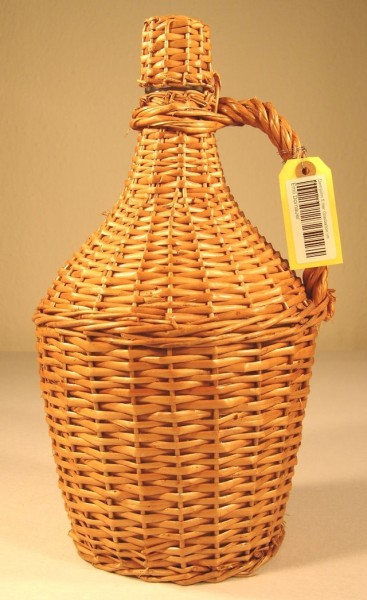 Demijohn 5 liter Glasballon im Weidenflecht