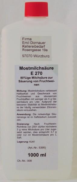 Mostmilchsäure 1 ltr