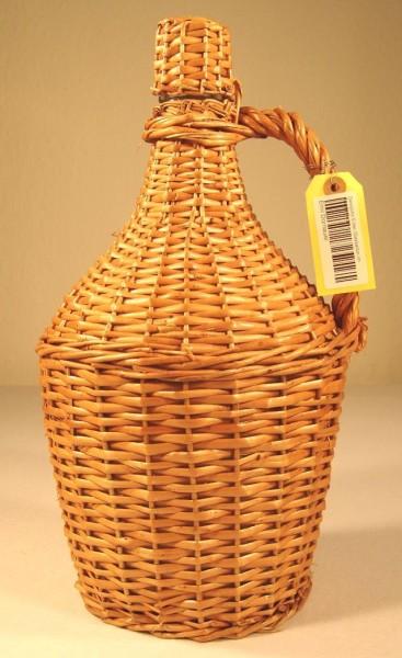 Demijohn 10 liter Glasballon im Weidengeflecht