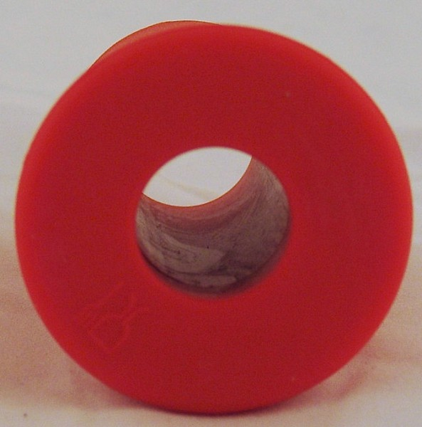 Gummispund rot 55 mit Loch 24 mm